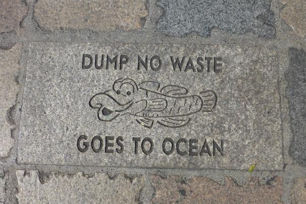 Dump no waste sign, Hawaii