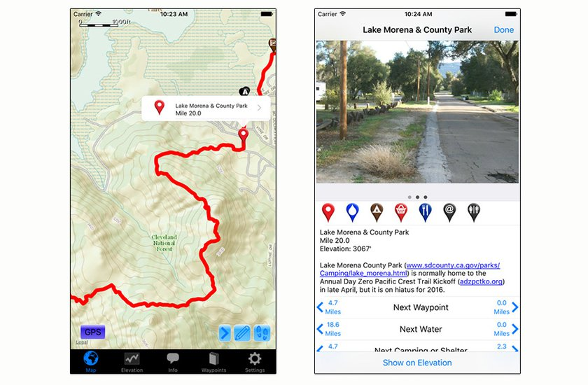 Guthook's Pacific Crest Trail Guide