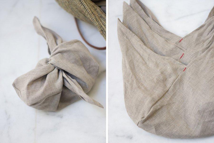 Linen Bento Bags