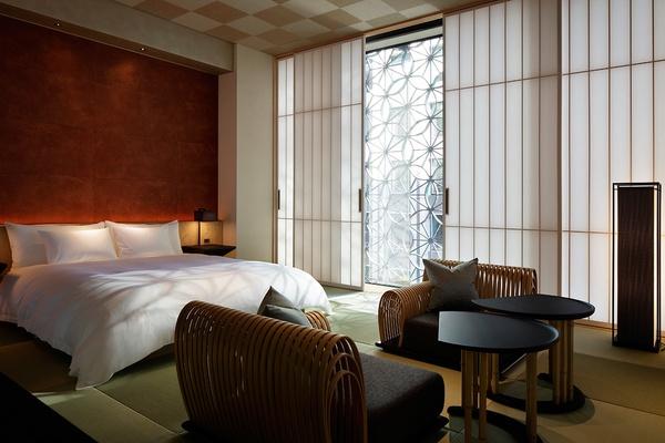 A guest room at Hoshinoya Tokyo