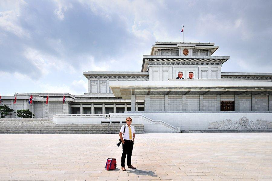 David at Kim Il-Sung Square