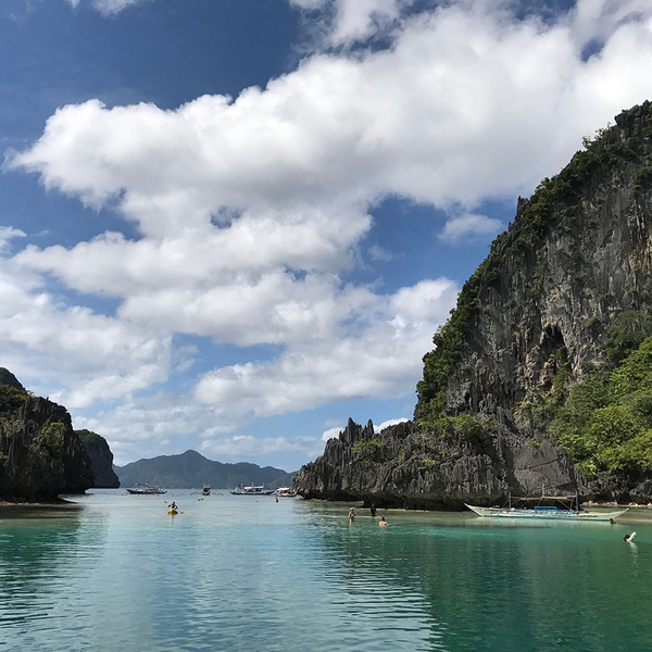 A beach on El Nido, Palawan in the Philippines