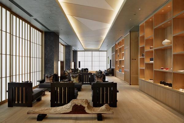 The lobby at Hoshinoya Tokyo