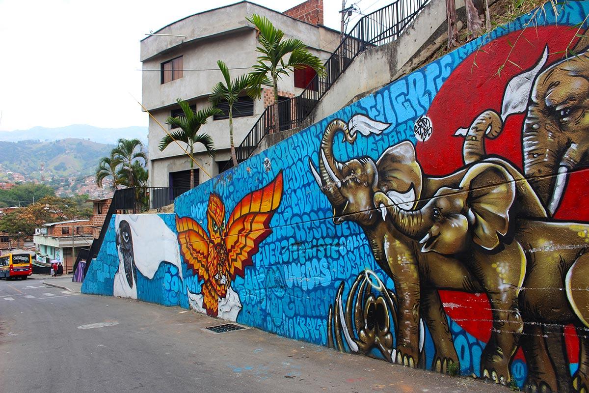 Comuna 13 Murals - Medellin, Colombia