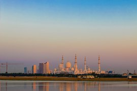 Sheikh Zayed Grand Mosque Center as seen from Shangri La Abu Dhabi.