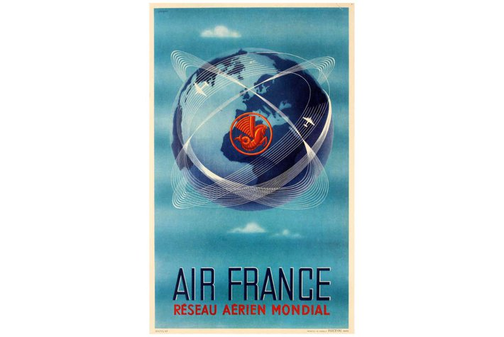 vintage Air France travel poster