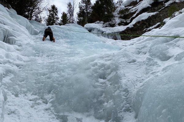 Ice climbing in Telluride.