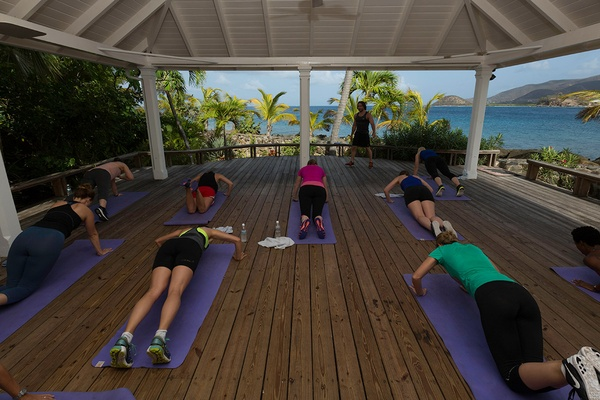 Yoga at Curtain Bluff