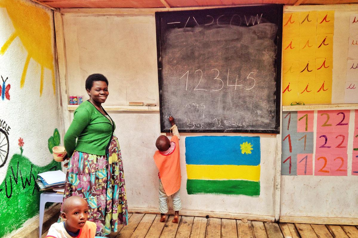 Aspire Gisozi Center classroom