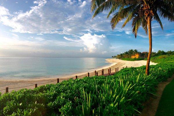 Beach view at Banyan Tree Mayakoba.