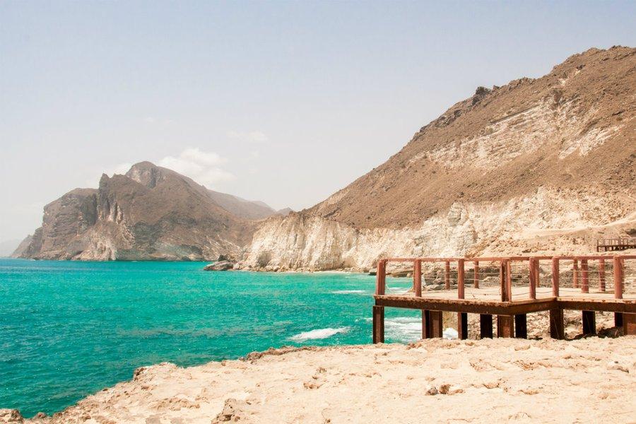 A beach near Salalah next to the blow holes.