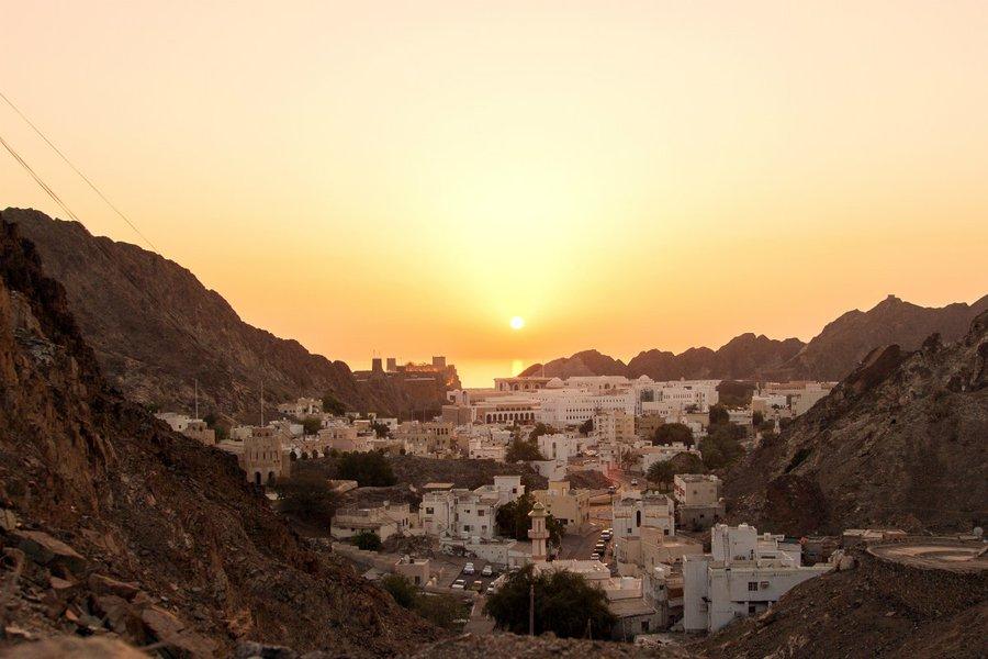 Sunrise in Muscat.