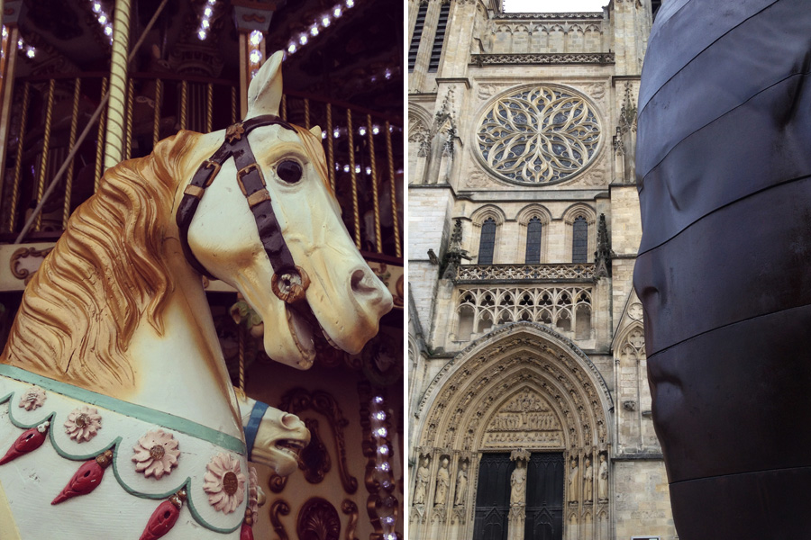 Carrousel and Cathedrale Saint-Andre
