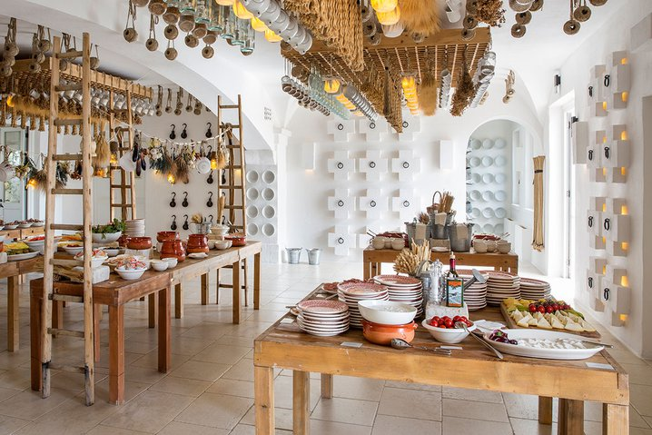 An Italian dinner table