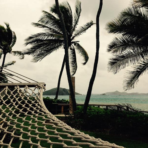 Hammock pre-hurricane on Deadman's Beach, Peter Island, British Virgin Islands