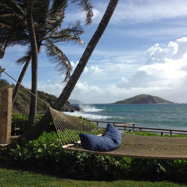 Hammock on Deadman's Beach, Peter Island, British Virgin Islands