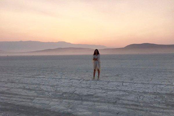 Magdalena Sartori at Burning Man.