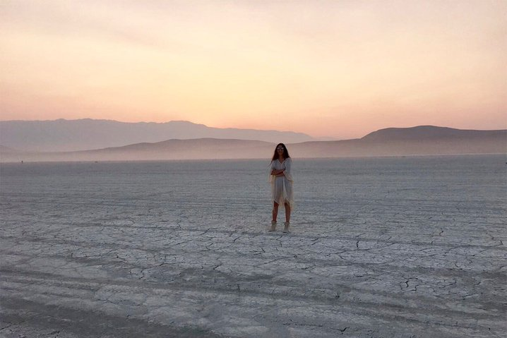 Magdalena Sartori at Burning Man.