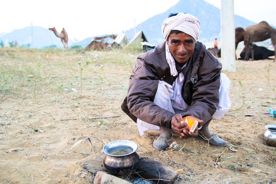 Camel herder in Pushkar