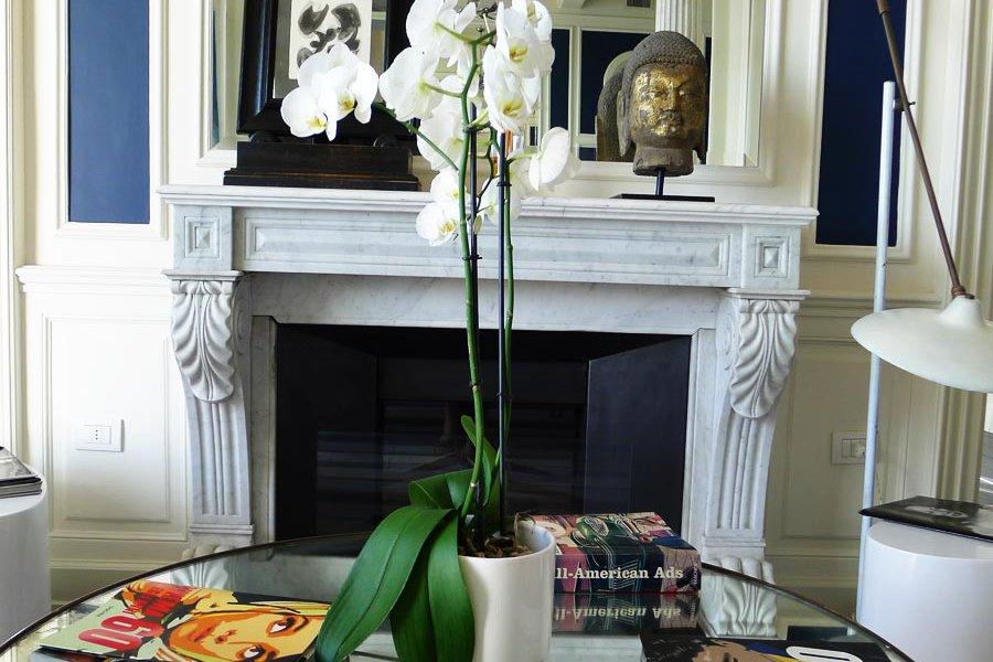 A Lobby Fireplace