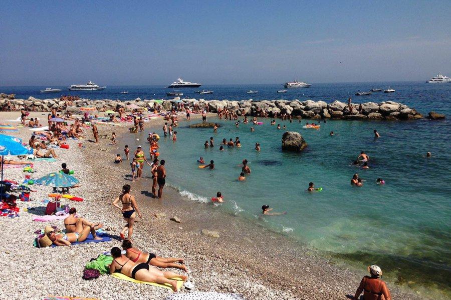 The Public Beach Below