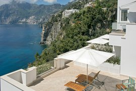 Casa Angelina built into the cliffs of the Amalfi Coast