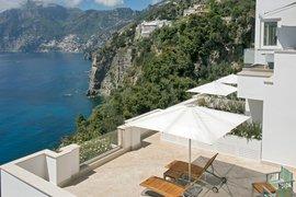 Casa Angelina built into the cliffs of the Amalfi Coast