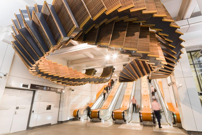 Interloop by Chris Fox, Wynyard Station, Sydney