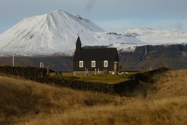 Church and cemetery at Búðir on Snæfellsnes Peninsula.