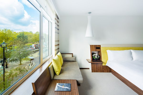 A guest room at COMO Metropolitan London.