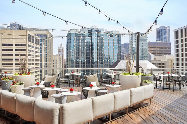 Noyane Rooftop Bar at Conrad Chicago.