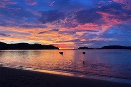 Sunset at El Mangroove, Costa Rica.