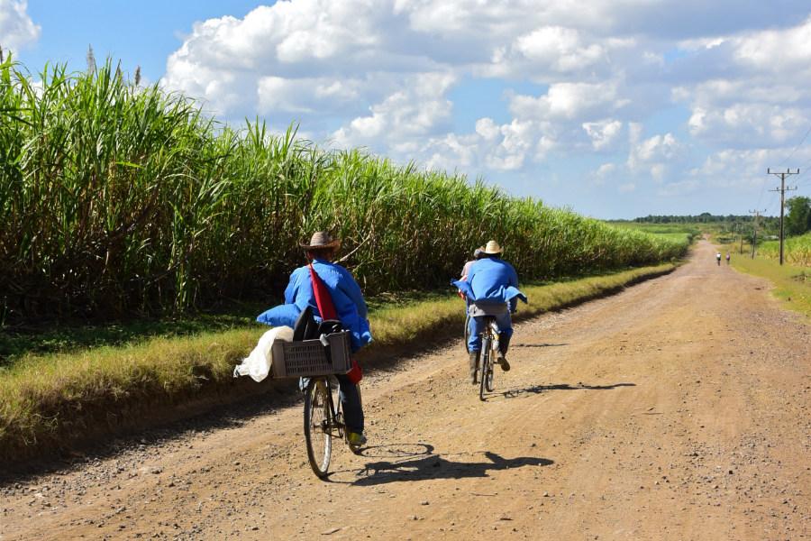 Bikers in Cuba