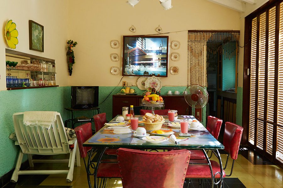 Dining Room at a Guest House in Santiago de Cuba