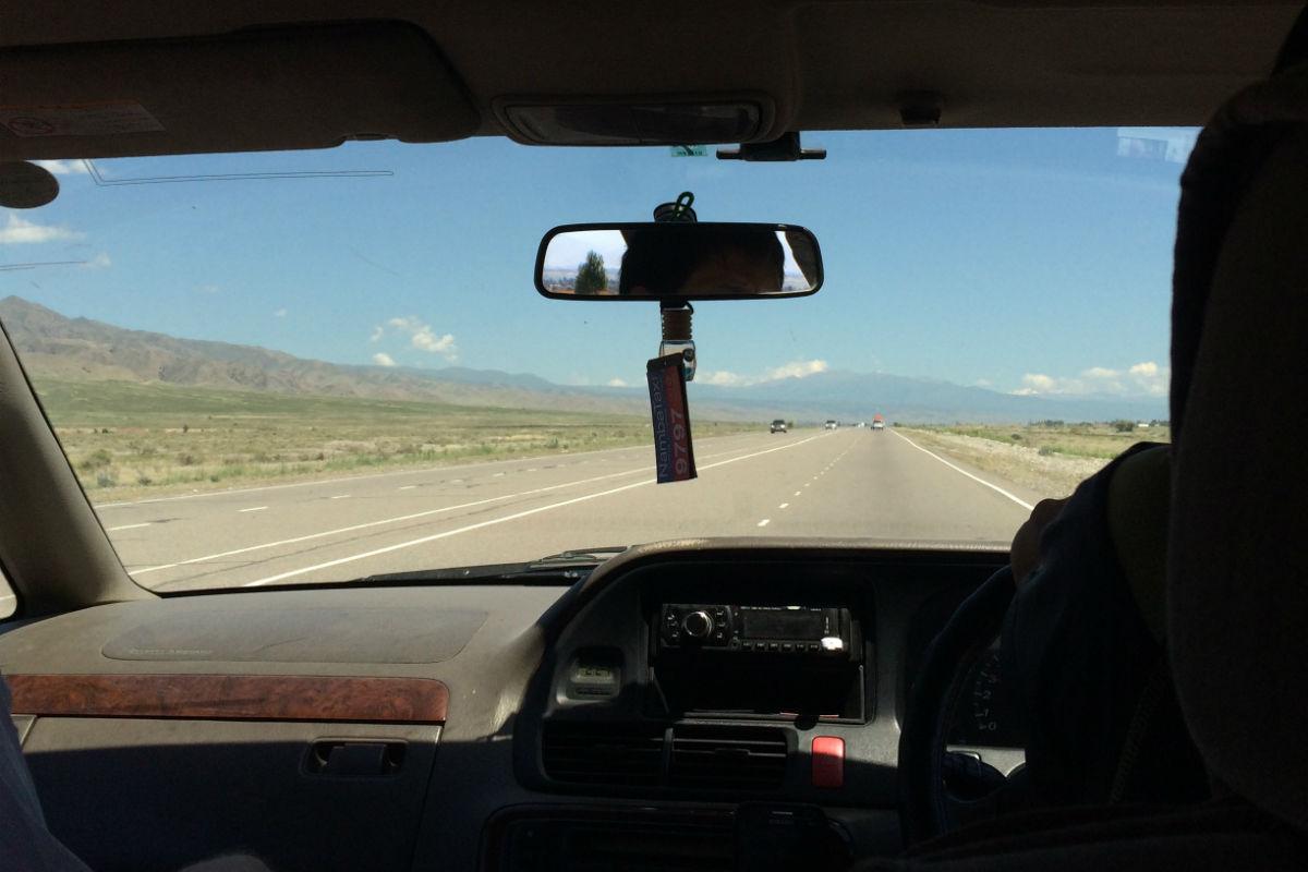 Driving to Issyk Kul
