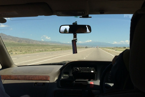 Driving to Issyk Kul