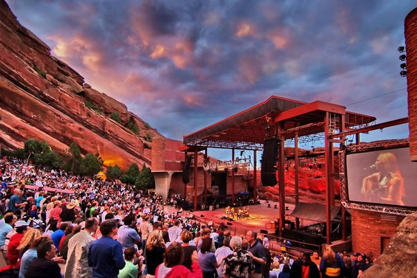 Panoramic view of Red Rocks.