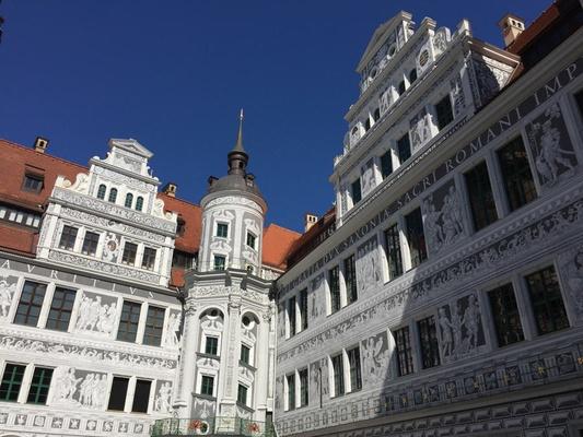 Dresden, Royal, palace, courtyard