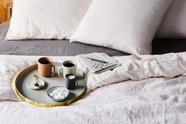linen bedding from Food52