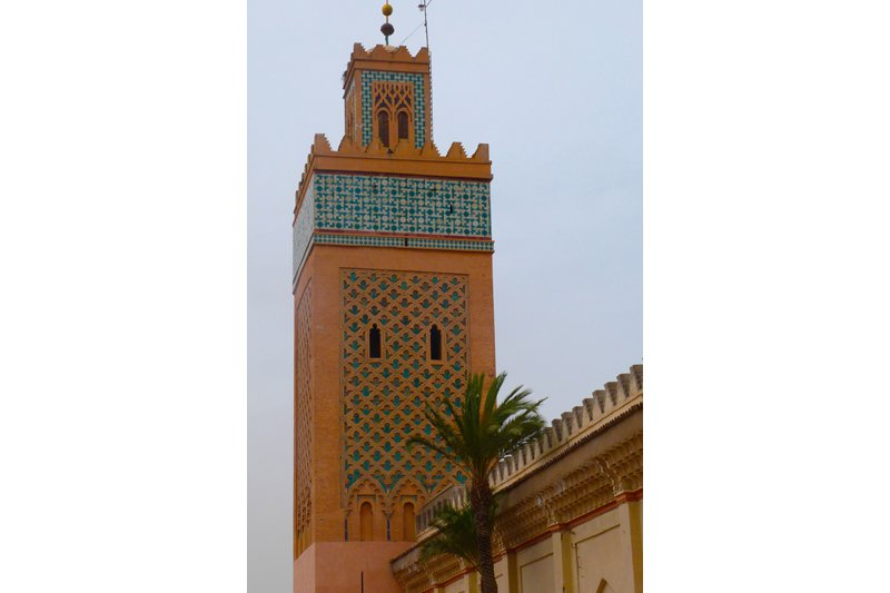 One of the many Minaret that you can see in Marrakech. Every day, they call the locals from this tower to take a moment to pray. All photos by Flavie Webster.