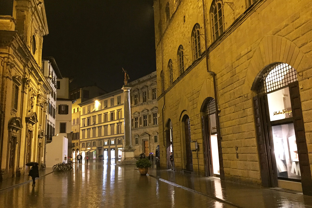 Via Tornabuoni at night, Florence