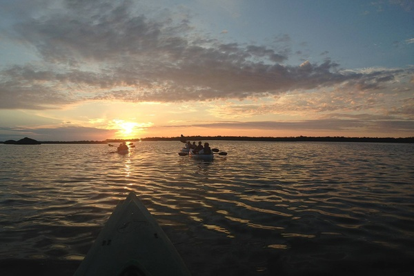 Kayaking in Tarpon Bay on Sanibel Island