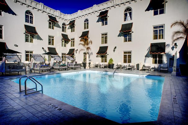 The pool at Casa Monica, St. Augustine.