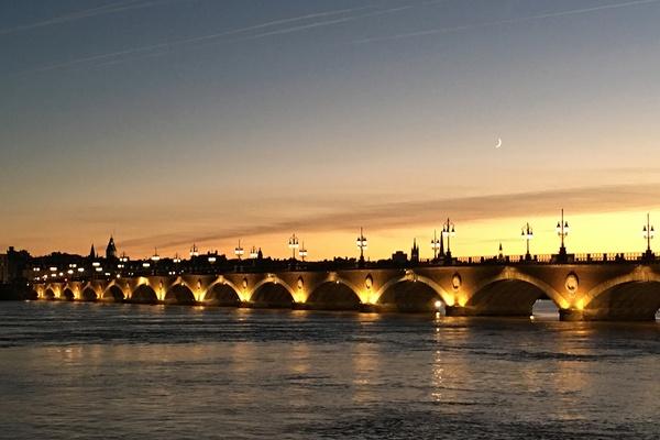 Bridges in Bordeaux, France