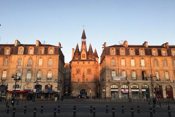 Sunset in Bordeaux, France