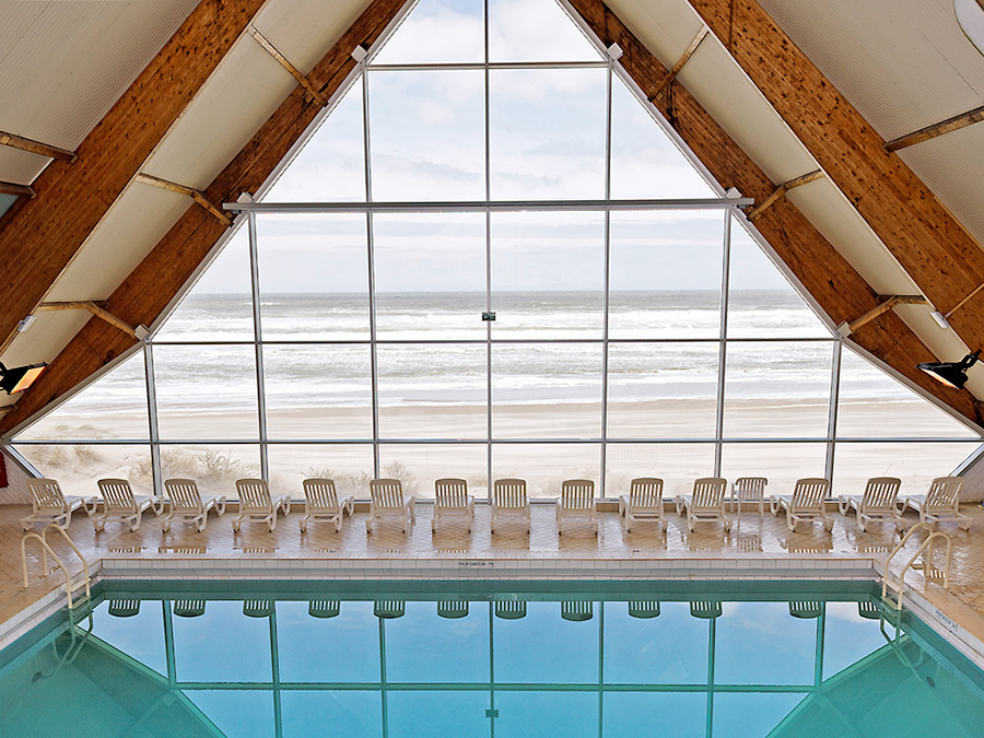 Indoor Pool at Novotel Thalassa Hotel in Le Touquet, France