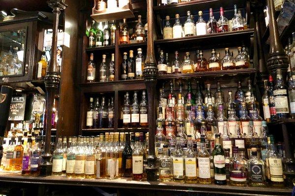 Whiskey bar at the Pot Still, Glasgow