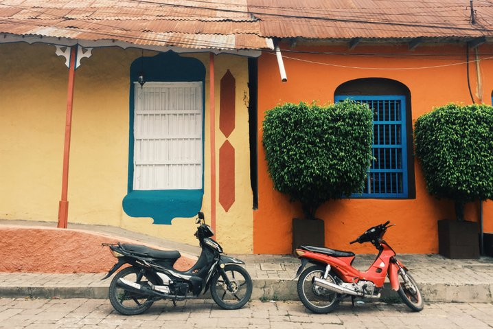 A street in Flores, Guatemala