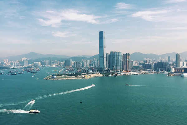 The view of Hong Kong from the Four Seasons