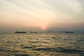 The ferry from Lamma Island to Hong Kong.